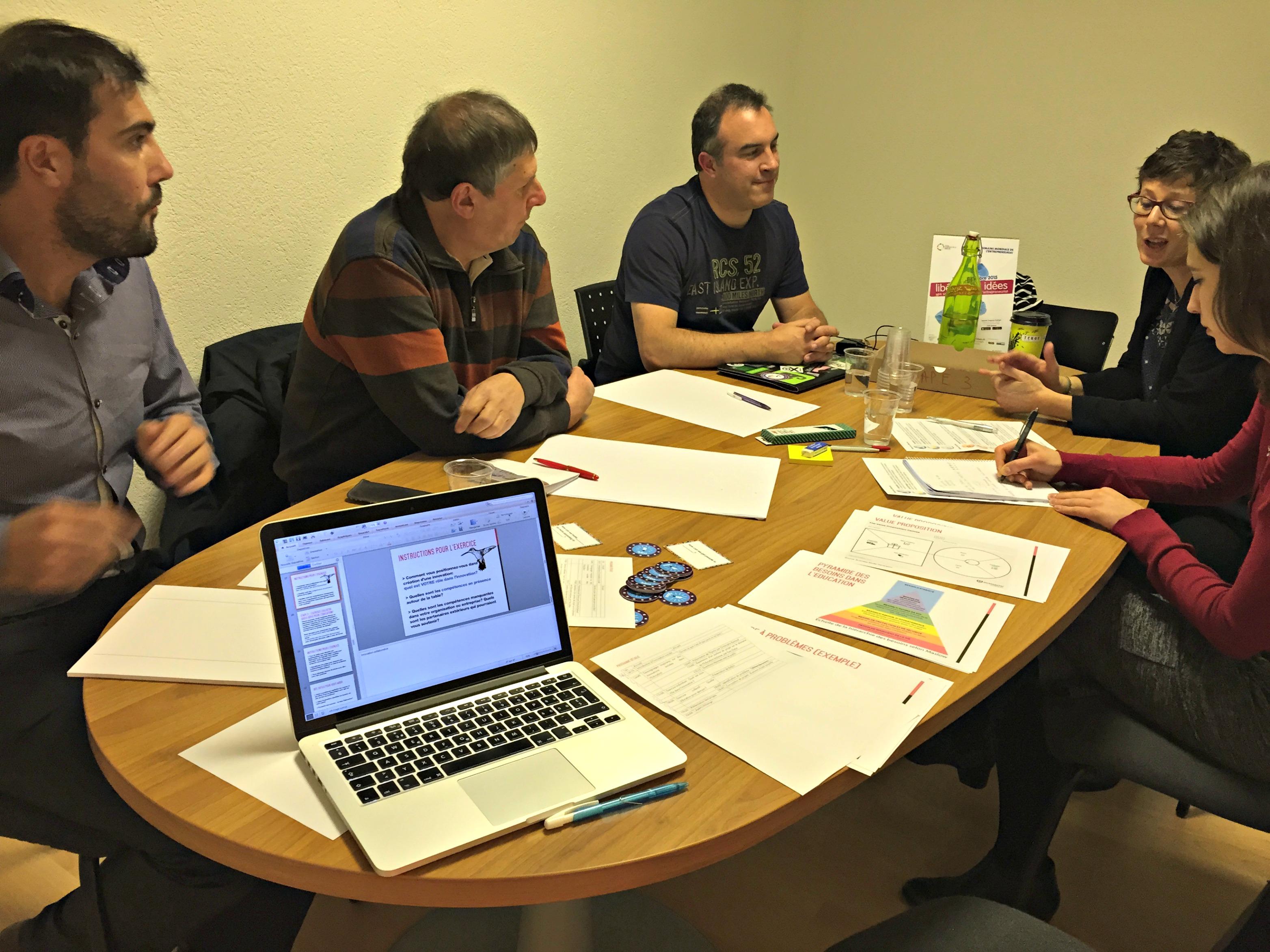 Atelier d'innovation sociale sur le thème de l'éducation